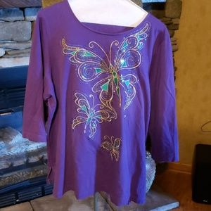 Bob Mackie wearable art.shirt